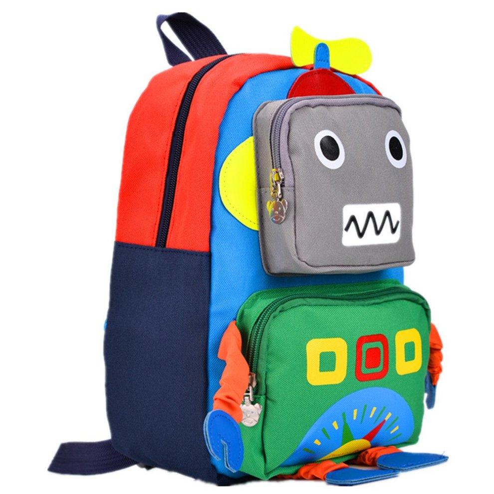fa472c6041e5 TeMan Children Backpack Kindergarten Cartoon Schoolbag for Kids Robot  Backpack Green