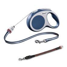Flexi Vario Cord Dog Lead Blue Small 8M & Flashing Cord Lead Small/Medium