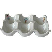 crackinchina Cupcake egg holder Ceramic tray to hold 12 eggs