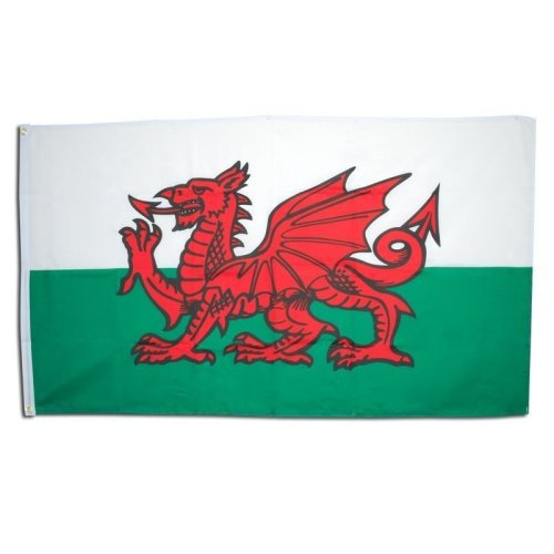 Welsh Flag. 3' x 5' Cloth - Flag 3 5 Party Wales National Bunting Fancy -  flag cloth welsh 3 x 5 party wales national bunting fancy decoration