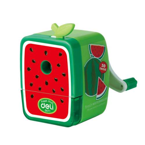 Fresh Fruit Manual Pencil Sharpener for Office and Classroom (Watermelon)