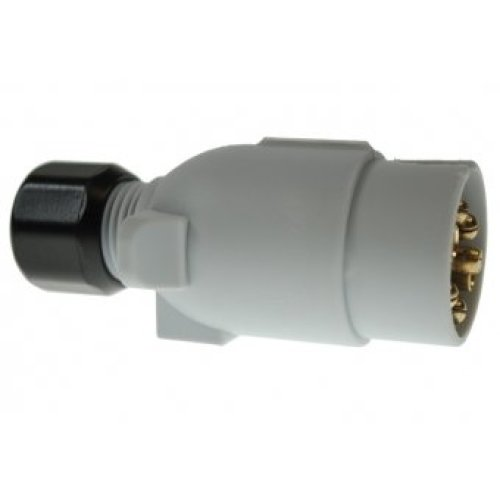 12v S-type 7 Pin Plastic Plug - 12s Maypole 7 Caravan -  plug 12s maypole 7 pin 7pin caravan plastic