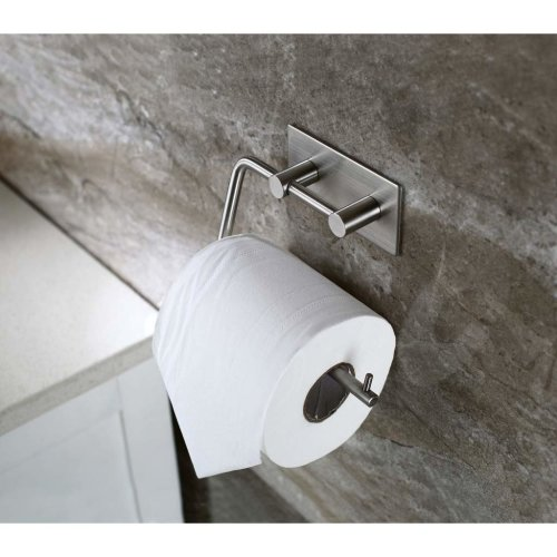Togu Self Adhesive Toilet Paper Holder Sus 304 Stainless Steel Rustproof Storage Bathroom Kitchen Towel Dispenser Tissue Roll Hanger Wall On