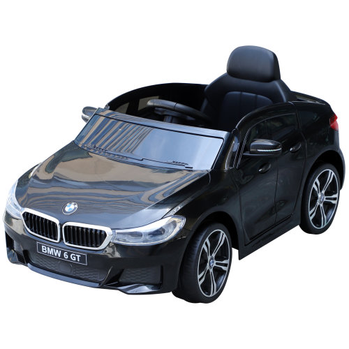 HOMCOM Licensed BMW 6GT 6V Kids Ride On Car Electric Battery Powered MP3 Aux Cord Led Headlights Music Play with Remote