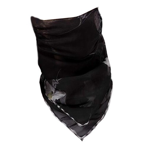 Women Girls Summer Sun Dust Protection Face Mask Neck Gaiter Chiffon Scarf #06