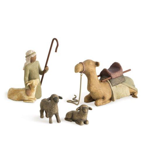 Willow Tree Shepherd and Stable Animals Figurine