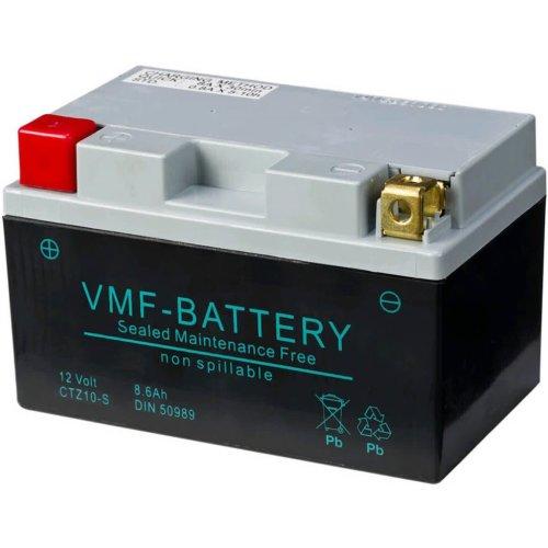 VMF Powersport AGM Battery 12V 8.6Ah Maintenance Free Car Vehicle FA YTZ10-S