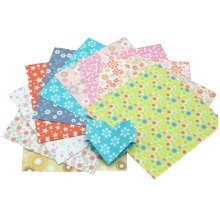 144 Pieces of Arts Crafts Origami Papers Multicolored Flowers Pattern - 15x15cm