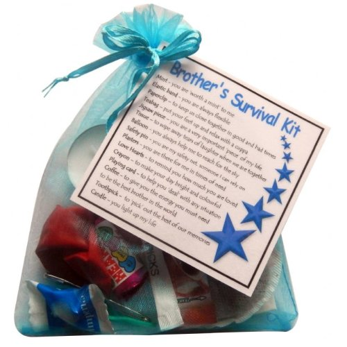Brother's Survival Kit Gift  - Great novelty gift for birthday or christmas