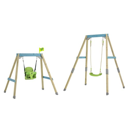 TP Toys Forest Acorn Growable Wooden Swing Set With 2 Seats Build Frame From Low To Full Height Ages 6 Months-10 Years
