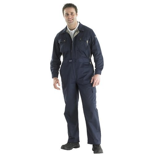 """Click CPCN36 Premium Coverall Boiler Suit With Internal Knee Pad Pockets Navy Blue 36"""""""