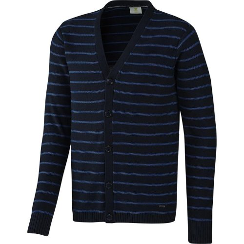 adidas Neo Men's/Boy's Slim Fit Striped Cardigan Jumper Navy
