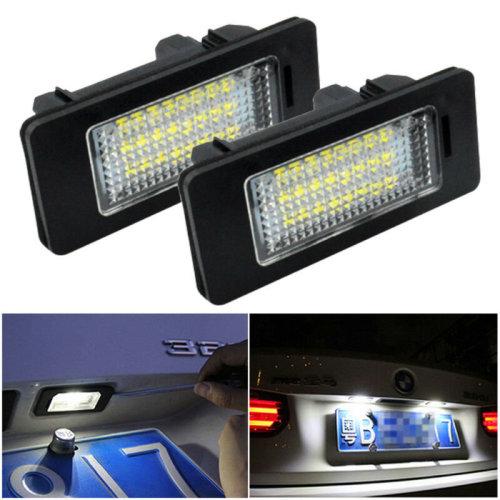 LED License Number Plate Light Lamp Bulbs For BMW E39 E60 E82 E70 E90 E92 X3/5/6