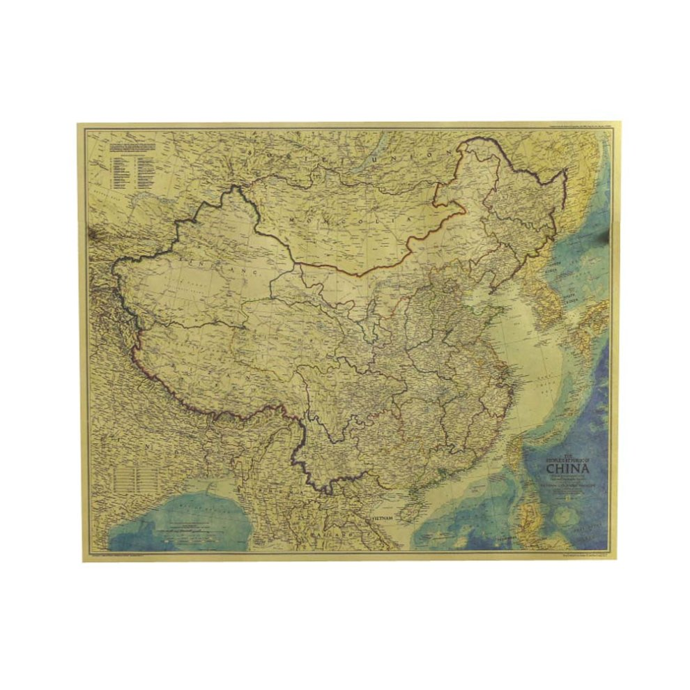 Posters Kraft Paper Old World Map Navigation Bar Interior Decorative on