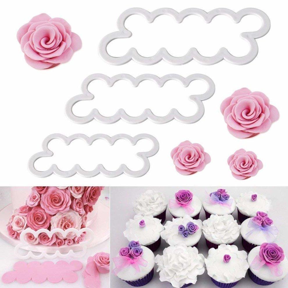Fyuan Molding Roses Carnations Peony 3d Petal Cake Cutter Flower