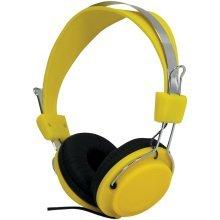 Street Style Coloured Digital Stereo Headphones - Colour Yellow