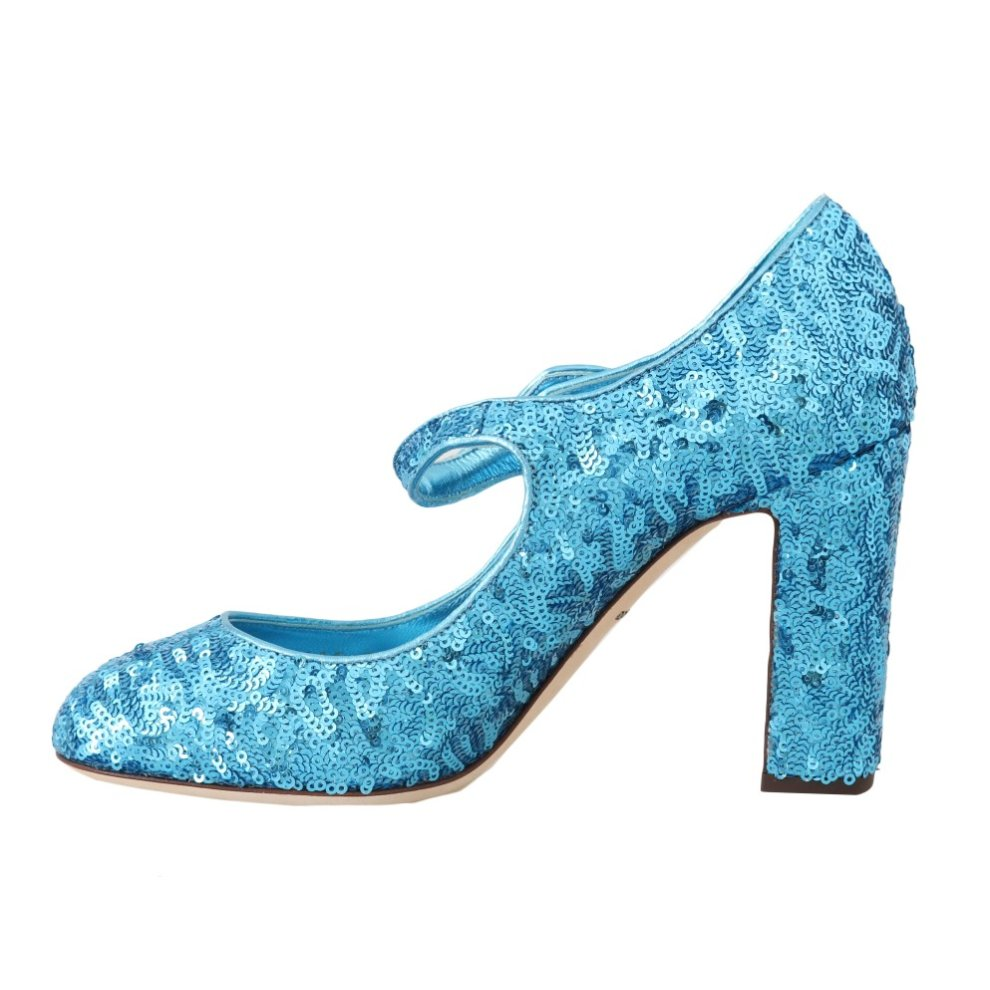 2ca8d92409 Dolce & Gabbana Blue Sequined Mary Janes Shoes on OnBuy