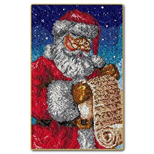"Latch Hook Rug Kit""Father Christmas List"" 110x70cm"