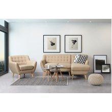 Tufted Living Room Armchair - MOTALA