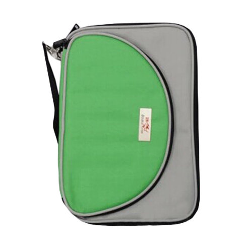 Cool Oblong Table Tennis Racket Cover Ping Pong Bat Bag Green/Gray