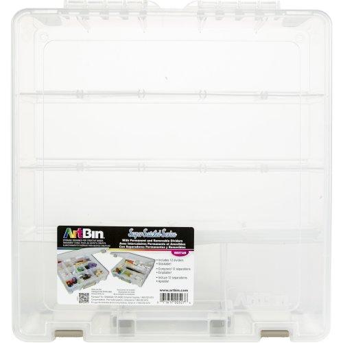 """ArtBin Super Satchel 3-15 Compartments-15.25""""X14""""X3.5"""" Translucent"""