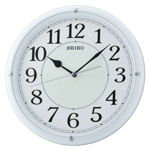 Seiko Luminous Dial Wall Clock with Arabic Numerals│Plastic│Matt White