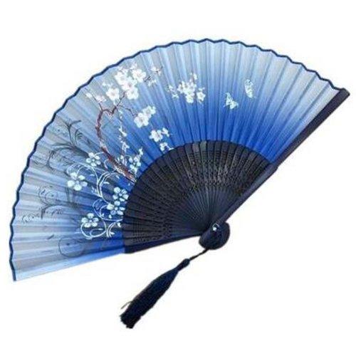 Handheld Folding Fan Handheld Fan Folding Fan Aya Silk Chinese/Japanese Silk