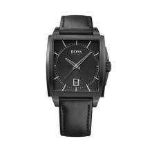 Hugo Boss Modern 1513226 Mens Black Leather Band Black Dial Watch