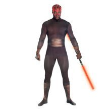Star Wars Darth Maul Adult Unisex Zapper Cosplay Costume Digital Morphsuit - Large - Multi-Colour (MLZDML-L)