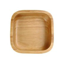 Wooden Dinnerware Fruit/ Meat/ Dessert Dishes Square Food Bowl 14.5 X 14.5 CM