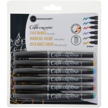 Manuscript CalliCreative Italic Markers 6/Pkg-Metallic - Assorted Colors