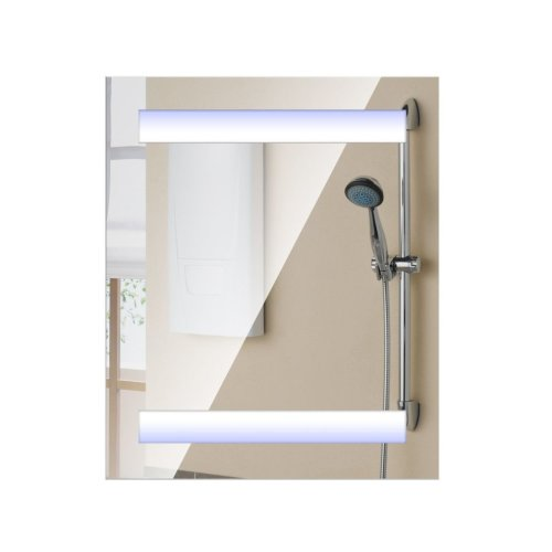 Homcom 3-Tier Illuminated Mirror Cabinet | Mirrored LED Bathroom Cupboard