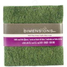 "Dimensions Feltworks Felt Bundle 6""X6"" 6/Pkg-Red, Green & White"