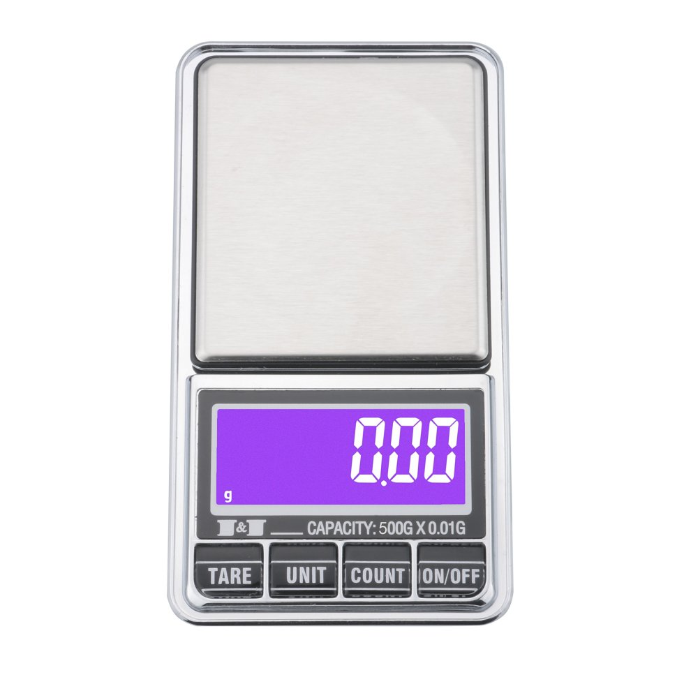 4e2d135a2748 Ewolee Digital Pocket Scale - 500g x 0.01g Smart Jewelry Scale, USB  Charging Multifunction Digital Scales with LCD Display and Tare Function,...