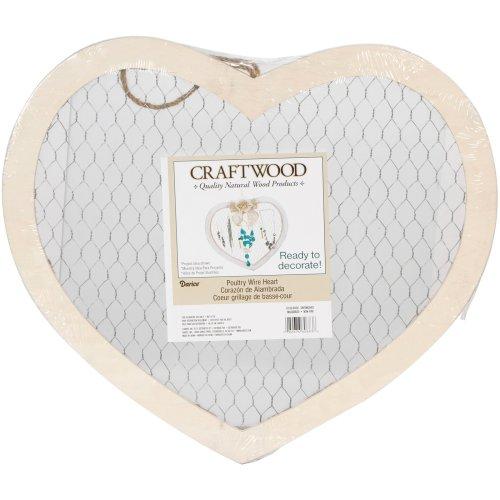 """Wood Chicken Wire Heart-15.75""""X13.625"""""""