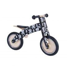 Kiddimoto Kids Kurve Wooden Balance Bike - Skullz Design