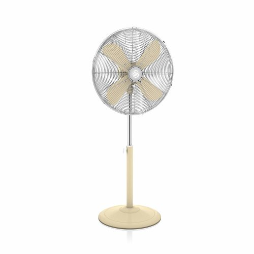 CREAM Swan Retro 16 Inch Stand Fan, Low Noise, 50w