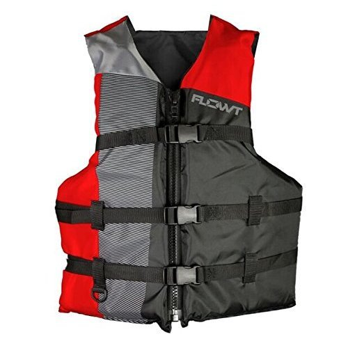 Flowt Multi Sport 40302 2 UNV Multi Sport Life Vest Type III PFD Red Adult Universal Fits chest sizes 30 50