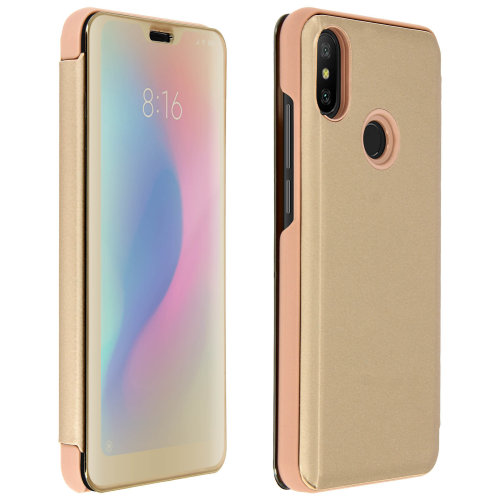 newest aa7fa 5e0e6 Flip Case Mirror Case for Xiaomi Mi A2 Standing Cover - Gold