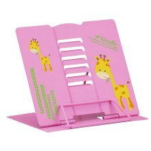 Book Stand Book Holder Adjustable Foldable Book Stand Cute [C]