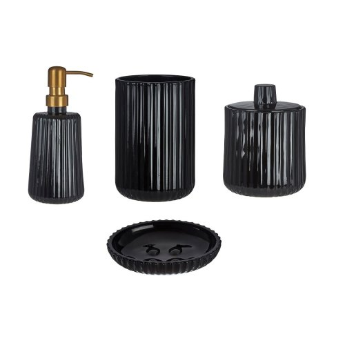 Ticino Brittany Black Glass Basin Accessories