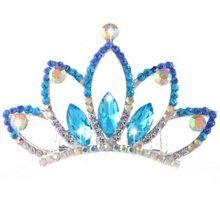 Elegant Plate Hair Comb Jewel Crown Bridal Headdress