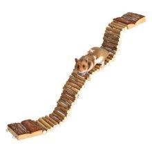Trixie Natural Living Ladder For Hamsters 6221 - Bridge Wooden Gerbil Suspension -  ladder natural trixie living hamsters 6221 bridge wooden gerbil