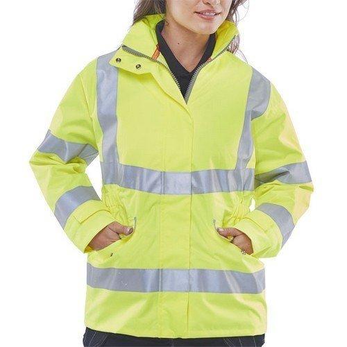 Click LBD30SYL Ladies Executive Hi Vis Yellow Jacket Size 14 Large