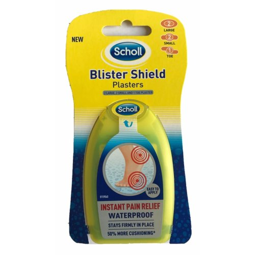 Mixed Scholl Blister Shield Plasters - Pack Waterproof 5 50 More Cushioning 2 -  scholl blister plasters shield pack waterproof 5 50 more cushioning 2