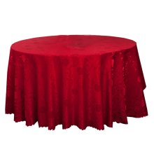 Wedding Banquets Hotels Tabletop Accessories Round Tablecloths Table Cover Red Peony (240x240 CM)