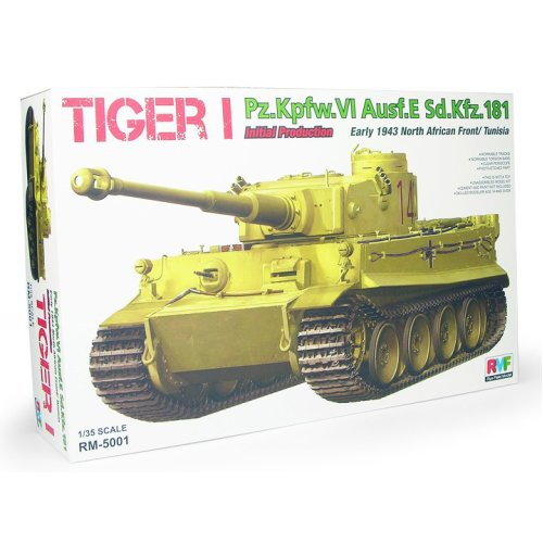 1:35 Pz.Kpfw.VI Ausf.E Tiger I Initial Production Early 1943 Tunisia North Africa Military Model Kit