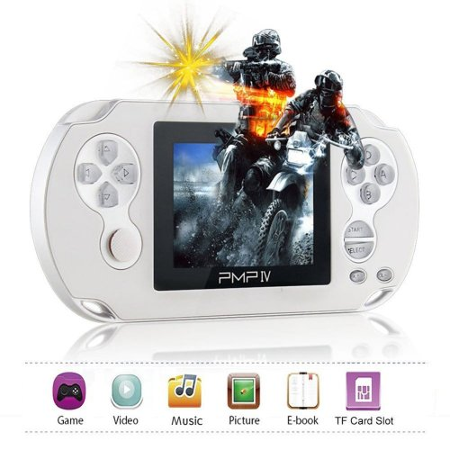 Hand held Game Console XinXu Retro Games Console with 566 Games 3.0 inch TFT Screen Portable Video Game Player support MP3 E-Book (White)