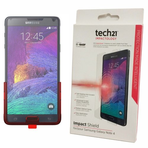 Impact Shield Screen Protector For Samsung Galaxy Note 4 by Tech21 Self-Heal