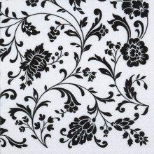 4 x Paper Napkins - Arabesque White & Black  - Ideal for Decoupage / Napkin Art
